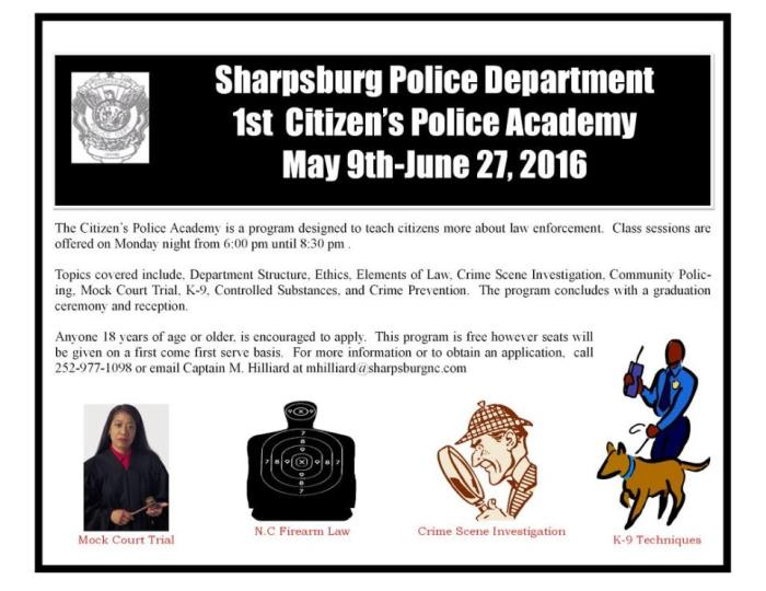 1st Citizen's Police Academy